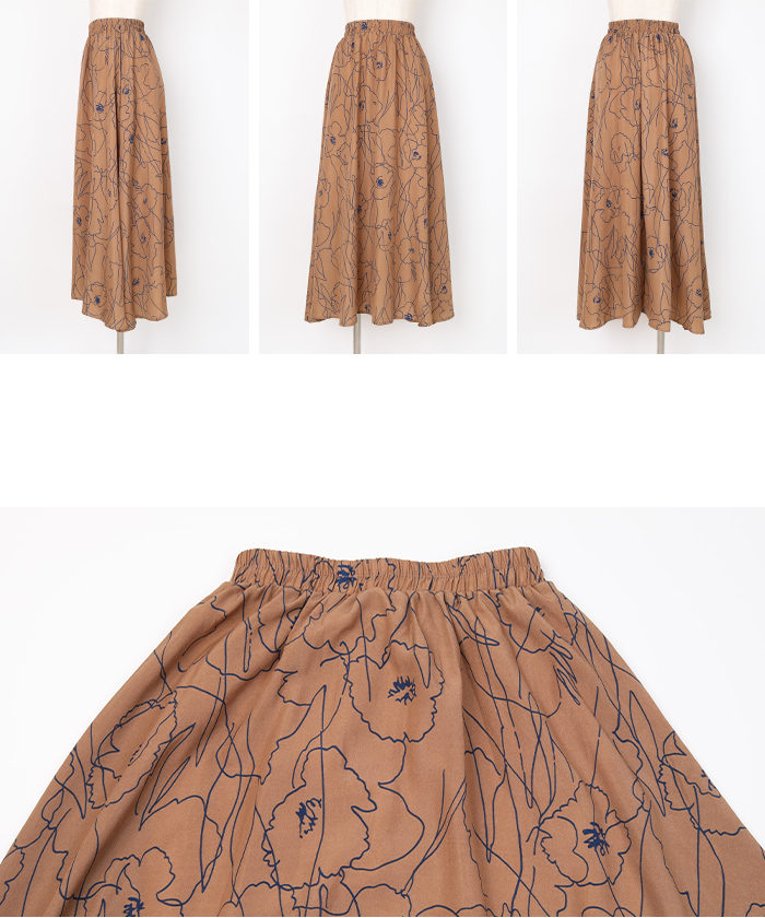 ニュアンスフラワーマキシ丈スカート14