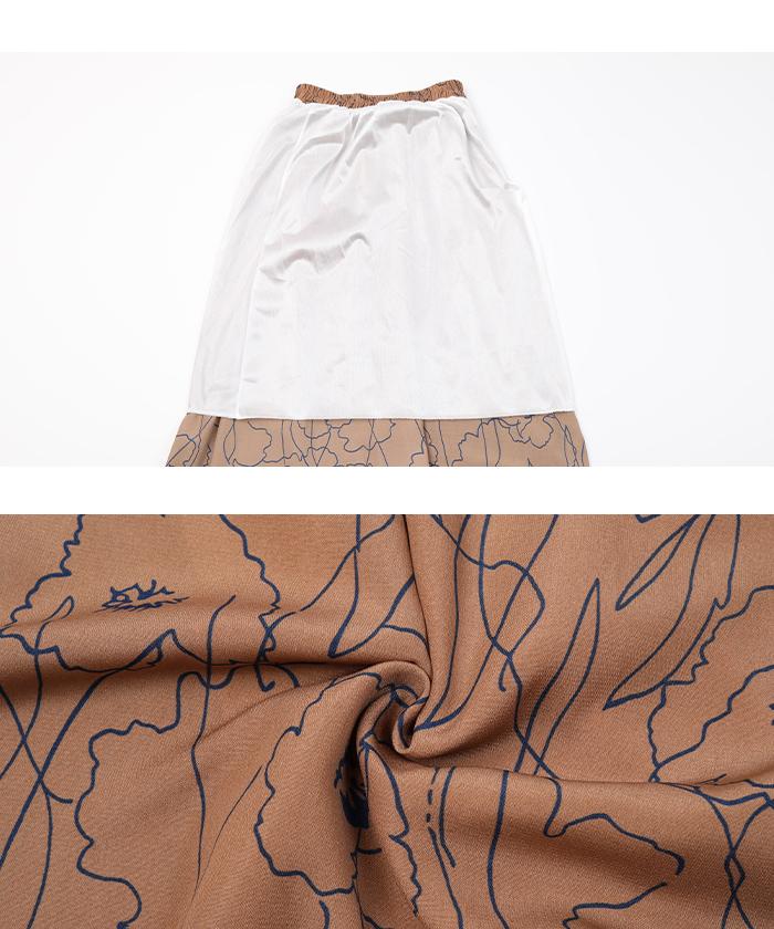 ニュアンスフラワーマキシ丈スカート16