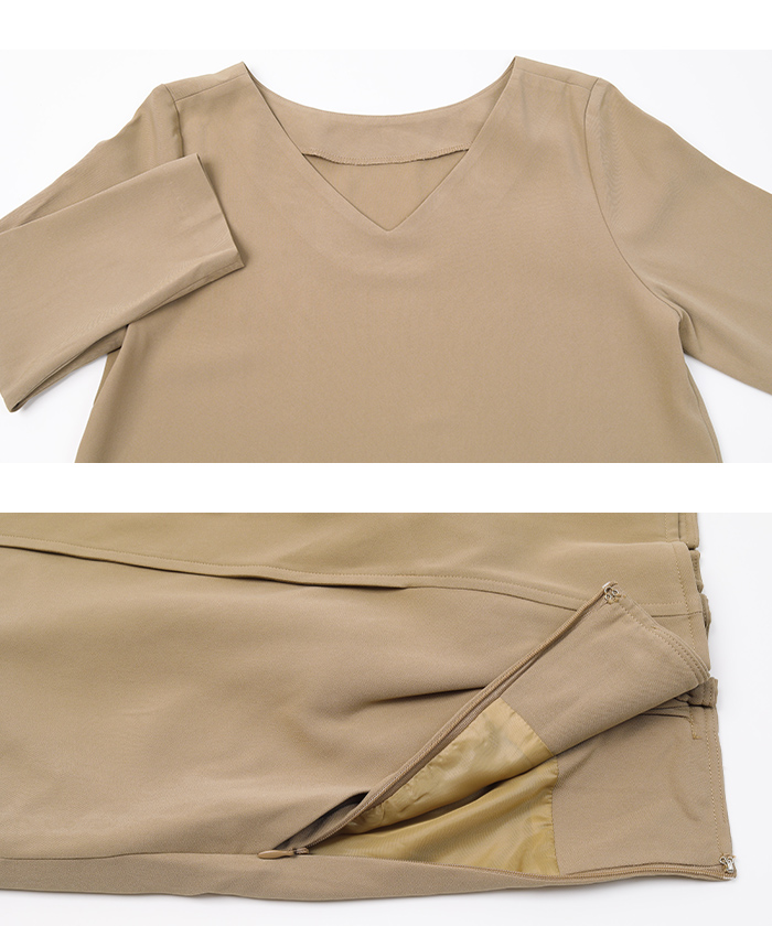 トップス×ラップ風スカートセットアップ14