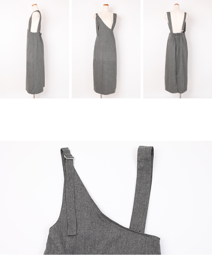 ツイードアシメジャンパースカート14