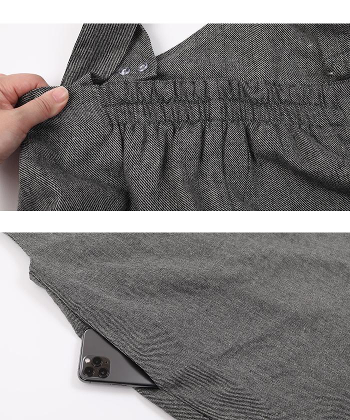 ツイードアシメジャンパースカート15