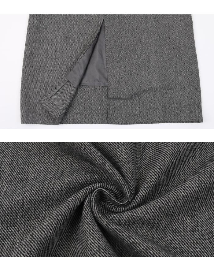 ツイードアシメジャンパースカート16