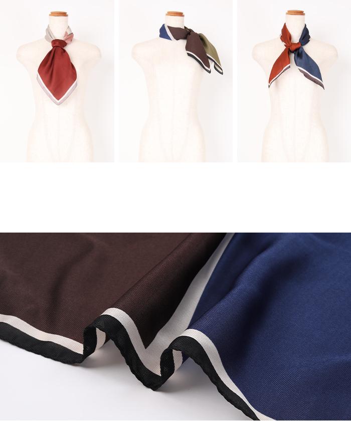カラーコントラストスカーフ15