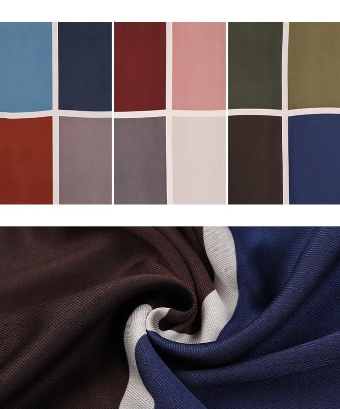 カラーコントラストスカーフ16