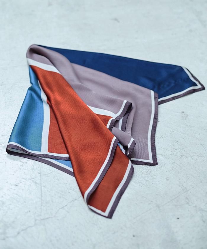 カラーコントラストスカーフ1