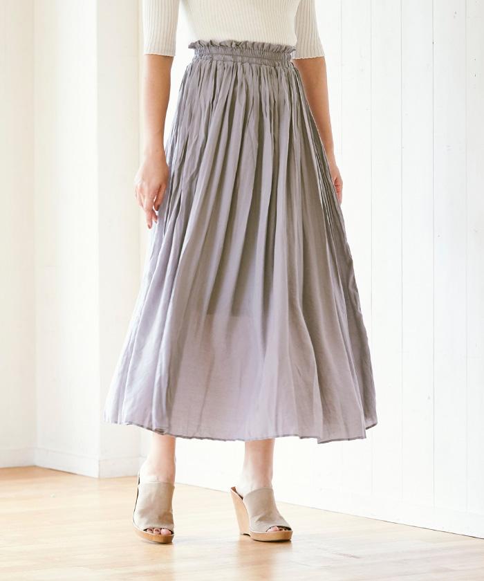 ワッシャープリーツスカート4