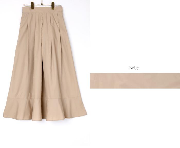 裾切替タックフレアスカート13