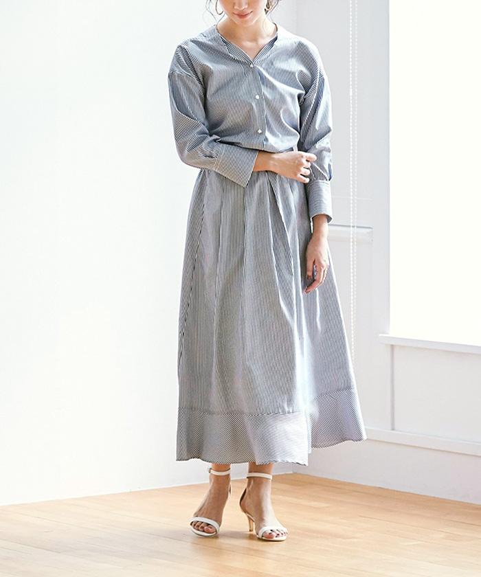 裾切替タックフレアスカート6