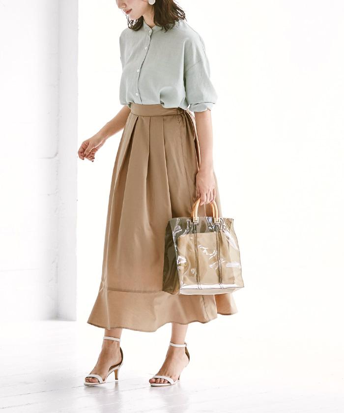 裾切替タックフレアスカート11
