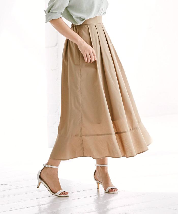 裾切替タックフレアスカート12
