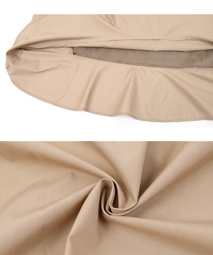 裾切替タックフレアスカート16