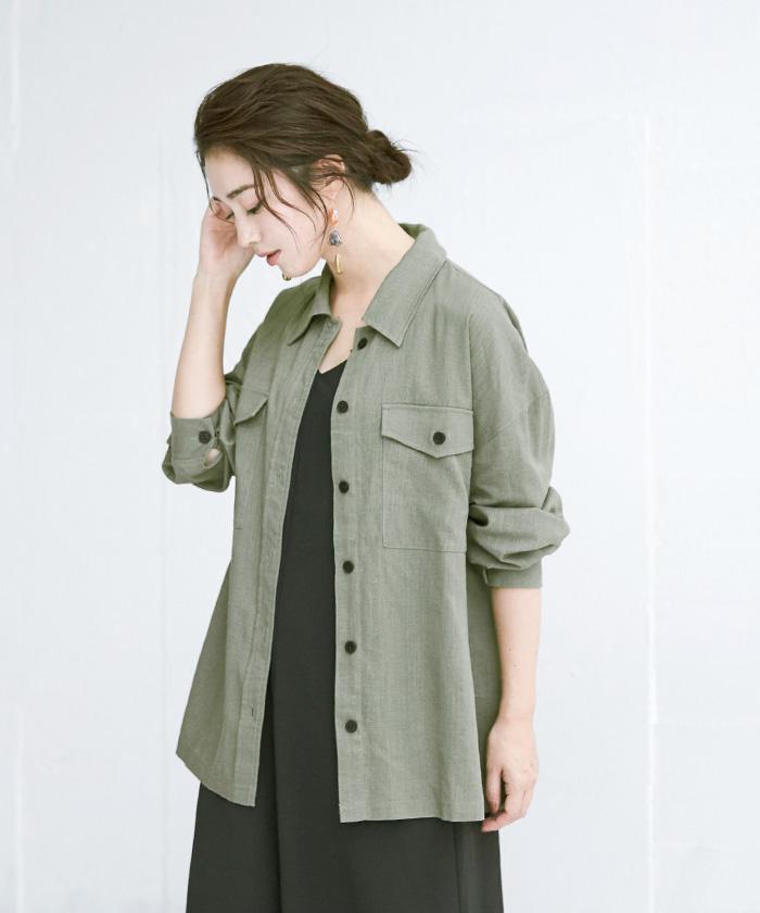 麻混CPOシャツジャケット12