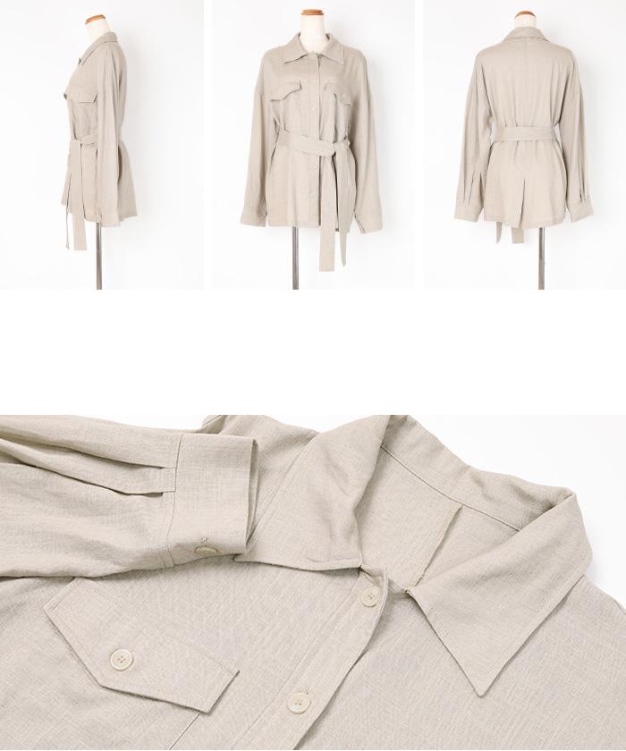 麻混CPOシャツジャケット14