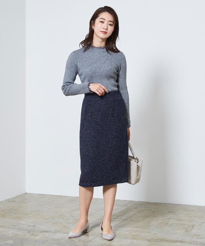 ベーシックツイードタイトスカート4