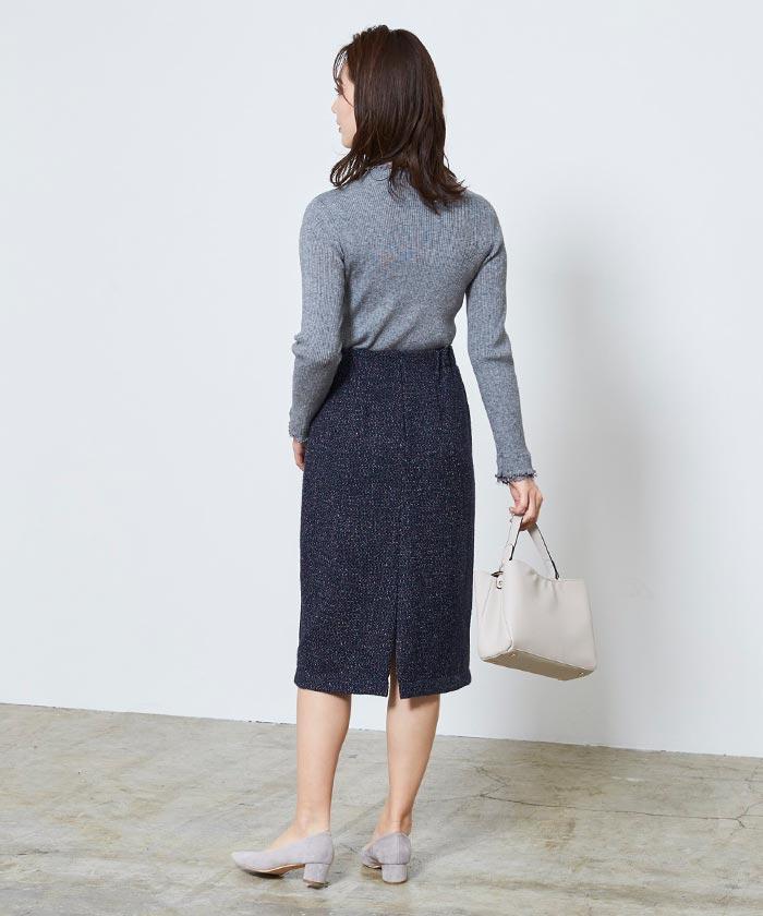 ベーシックツイードタイトスカート5