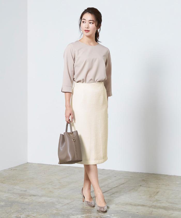 ベーシックツイードタイトスカート7
