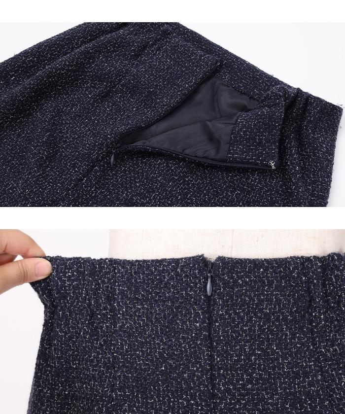 ベーシックツイードタイトスカート15