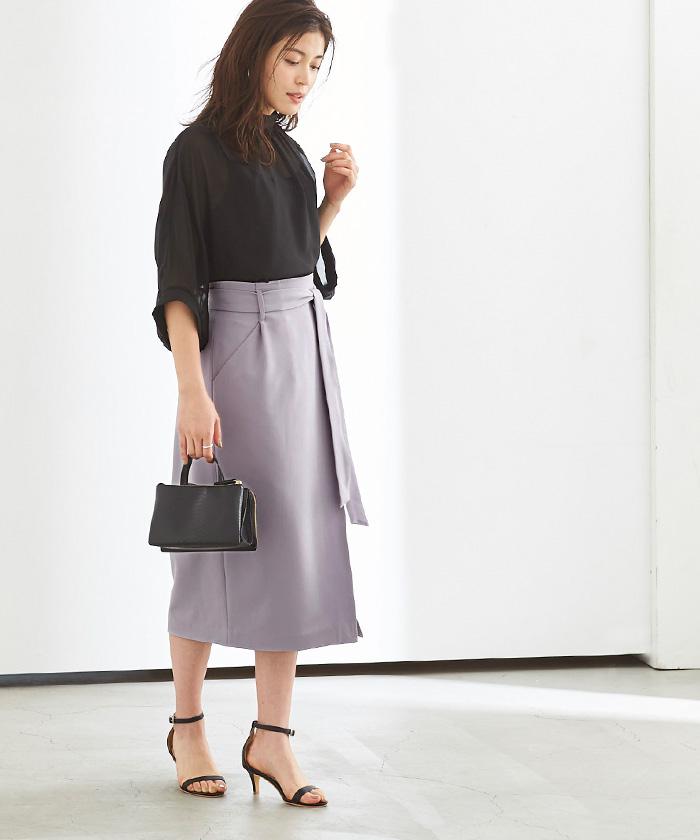 リボン付ラップスカート6