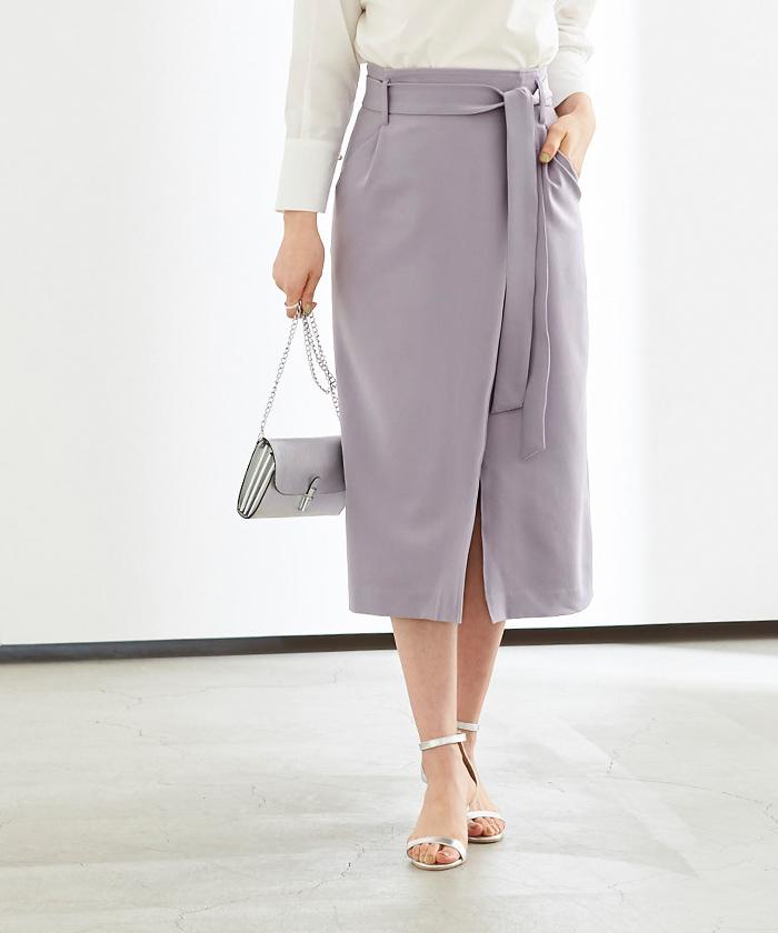 リボン付ラップスカート7