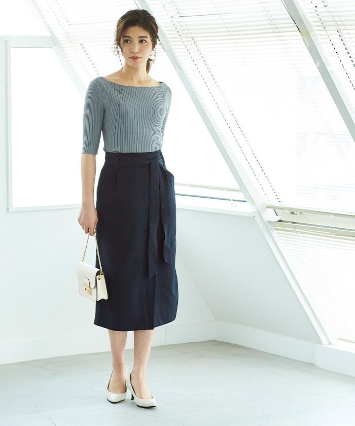 リボン付ラップスカート9