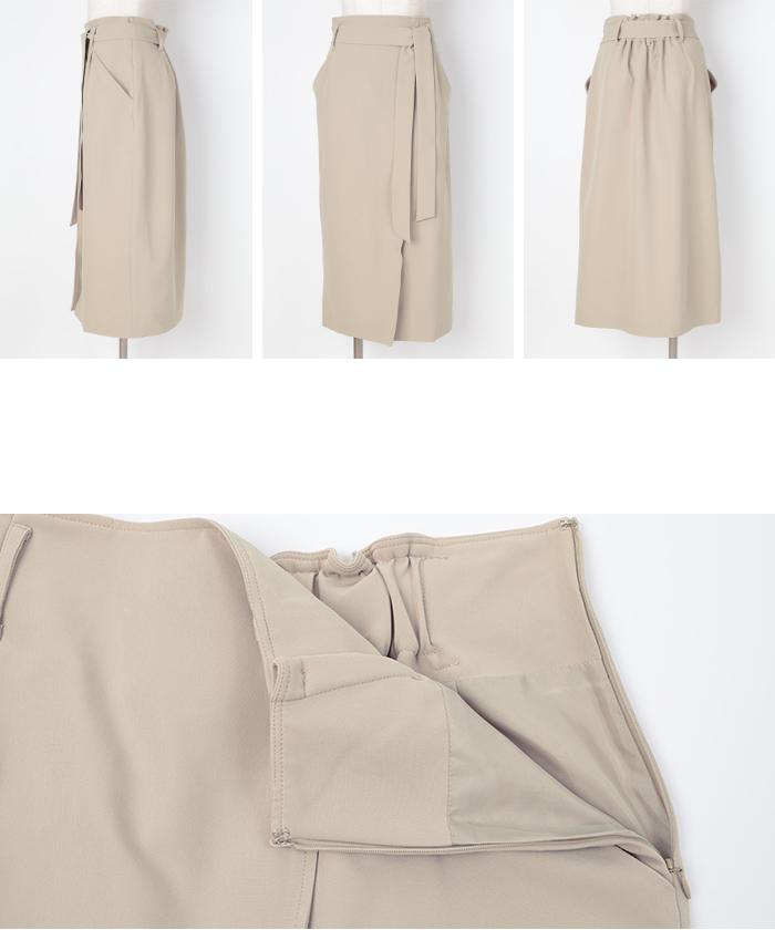 リボン付ラップスカート14