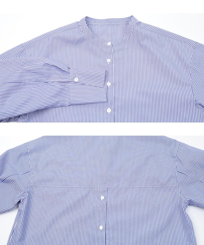 釦バックスリットチュニックシャツ15