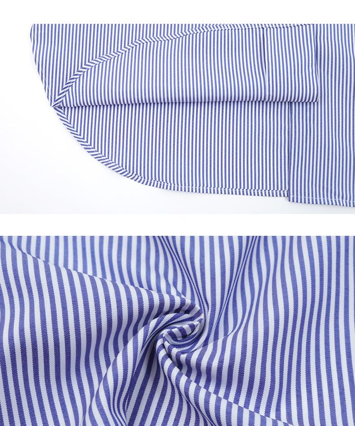 釦バックスリットチュニックシャツ16