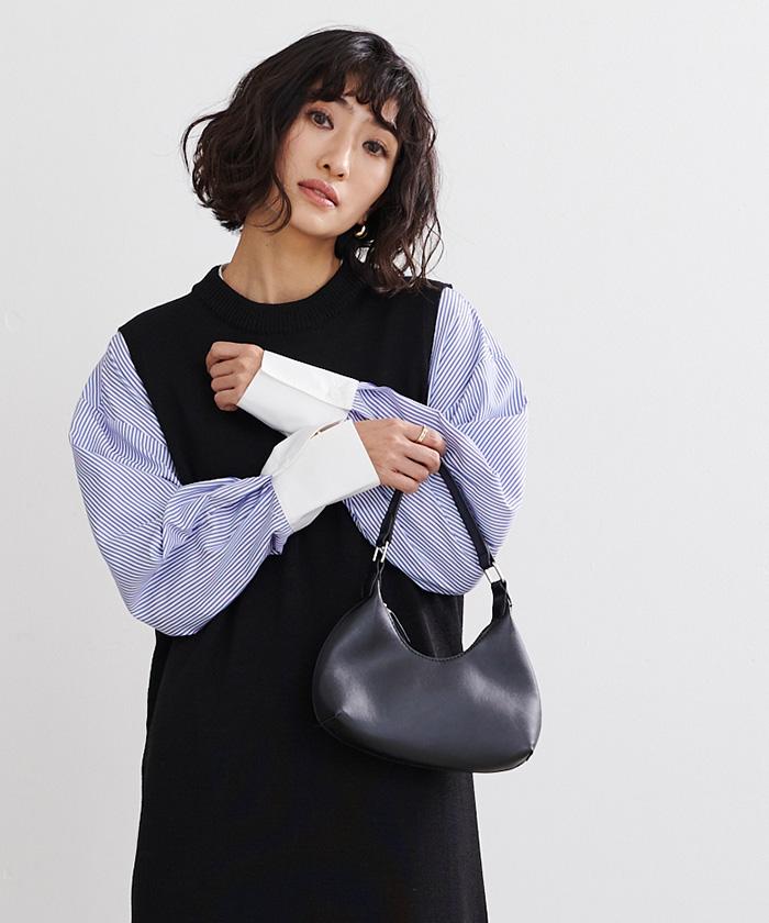 釦バックスリットチュニックシャツ4