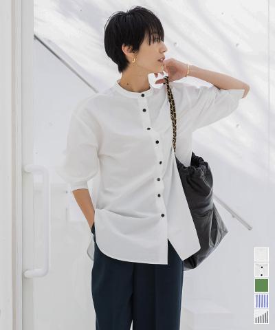 釦バックスリットチュニックシャツ【メール便可/90】〔人気商品!予約〕