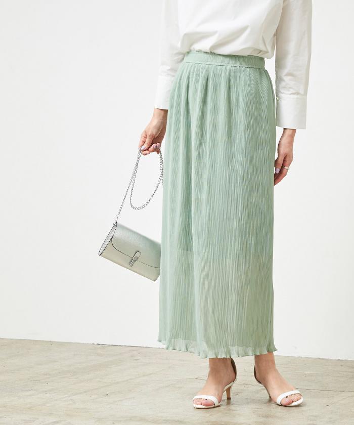 プリーツタイトスカート2