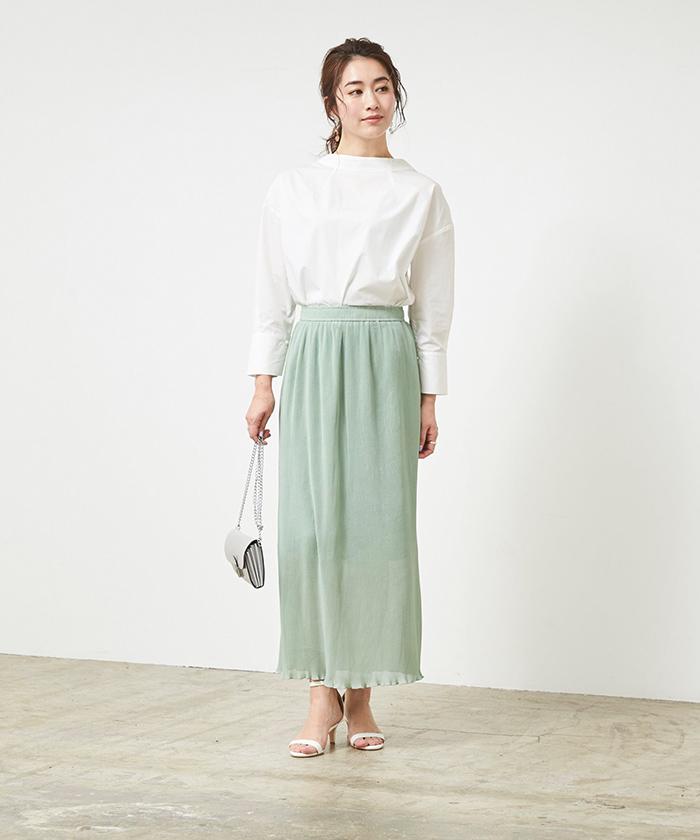 プリーツタイトスカート6