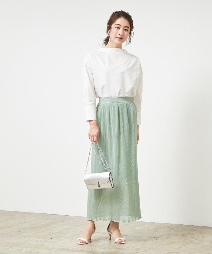 プリーツタイトスカート1