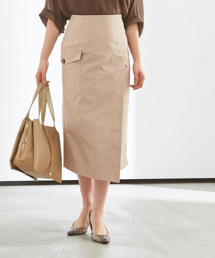 ポケットラップタイトスカート2