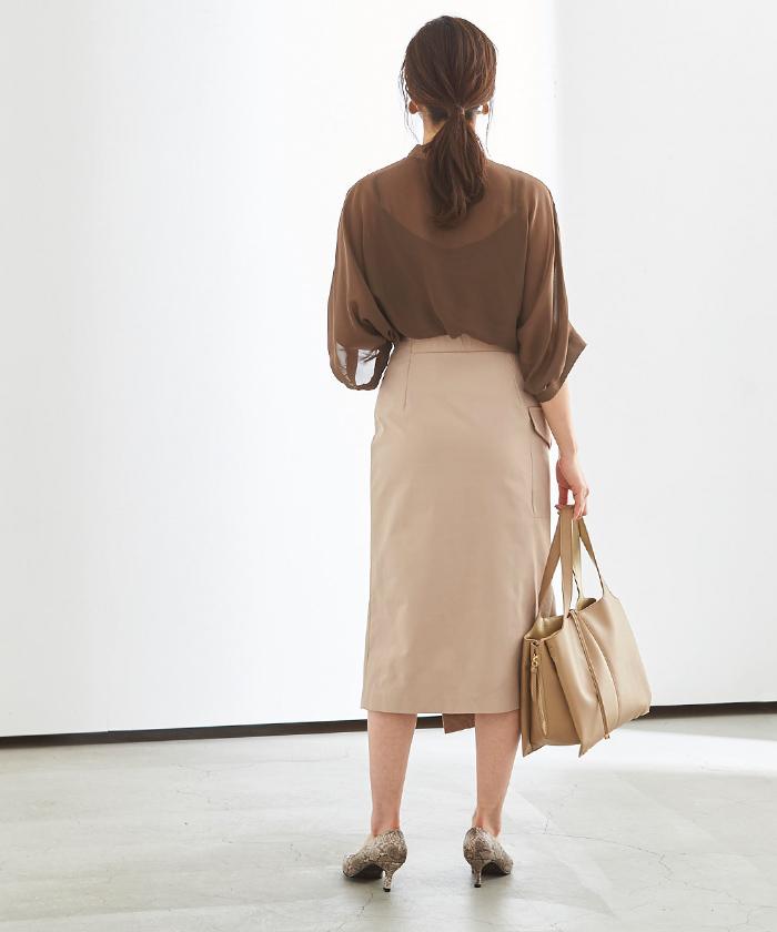 ポケットラップタイトスカート3