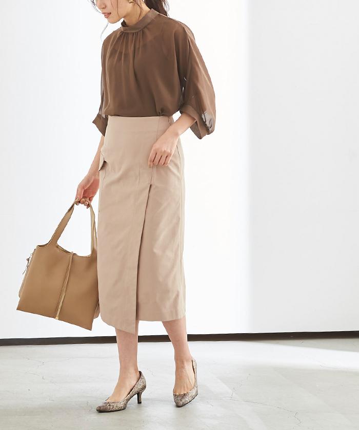 ポケットラップタイトスカート4