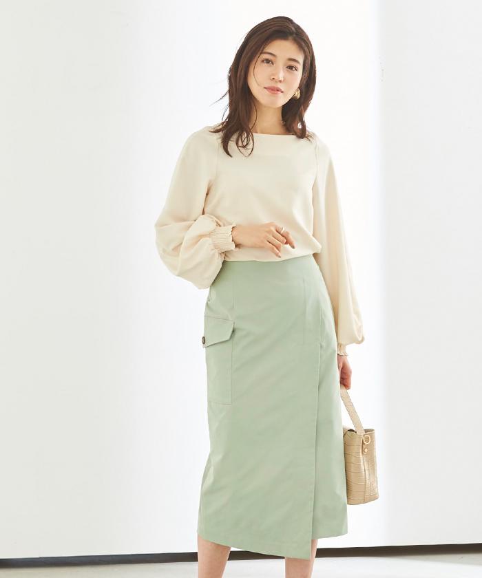 ポケットラップタイトスカート5