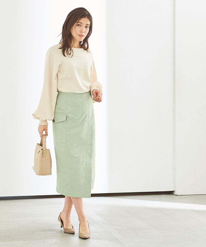 ポケットラップタイトスカート6