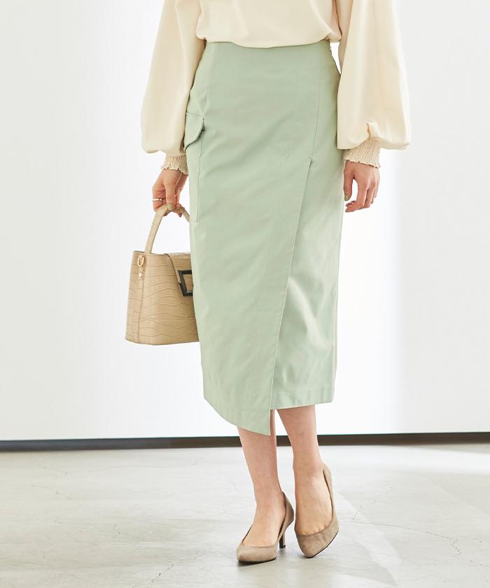 ポケットラップタイトスカート7