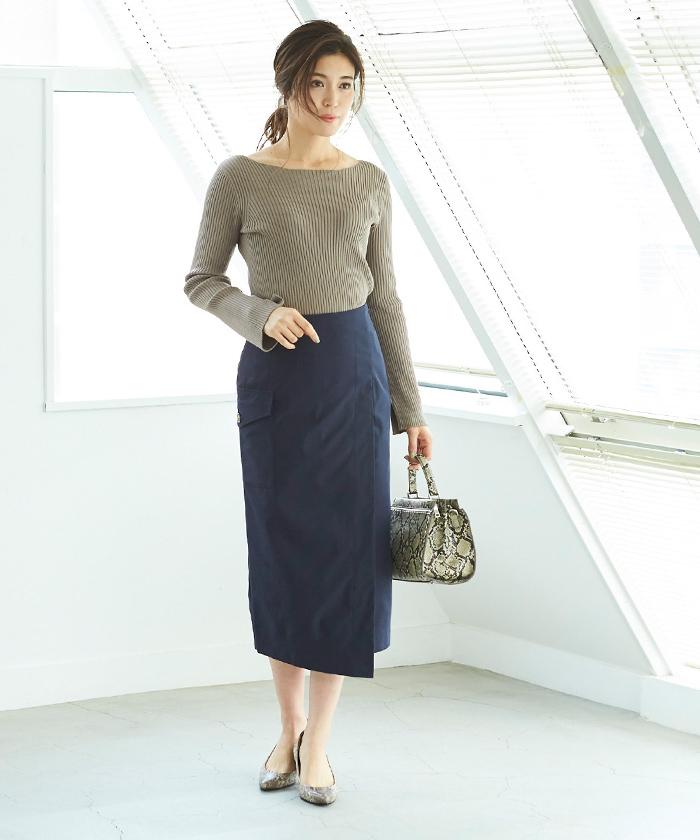ポケットラップタイトスカート8
