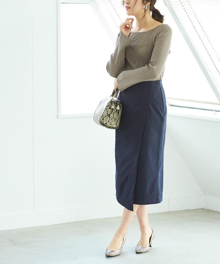 ポケットラップタイトスカート9