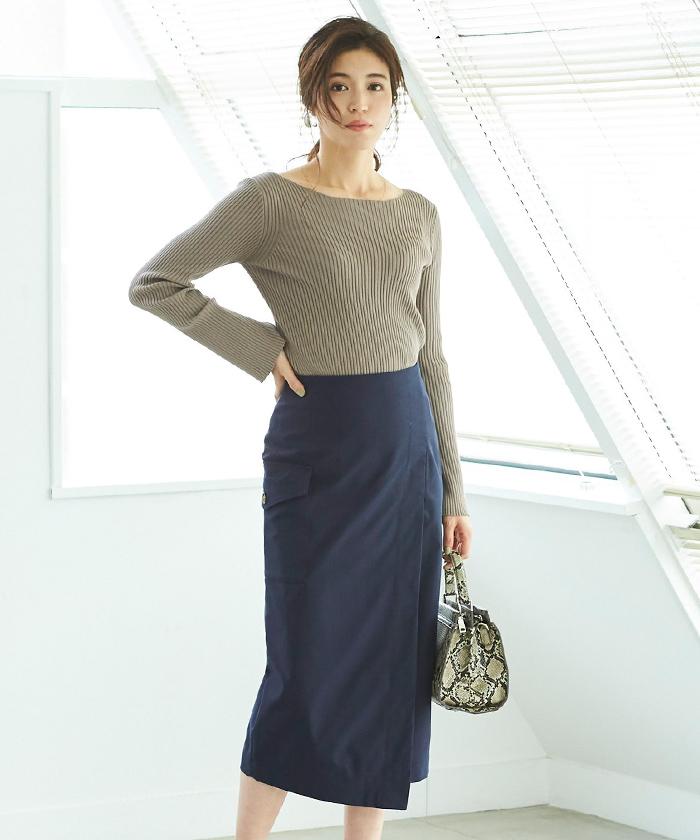 ポケットラップタイトスカート10