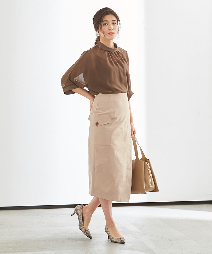 ポケットラップタイトスカート1