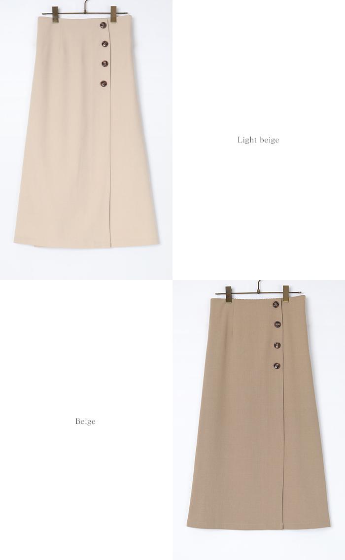 釦デザインラップタイトスカート12