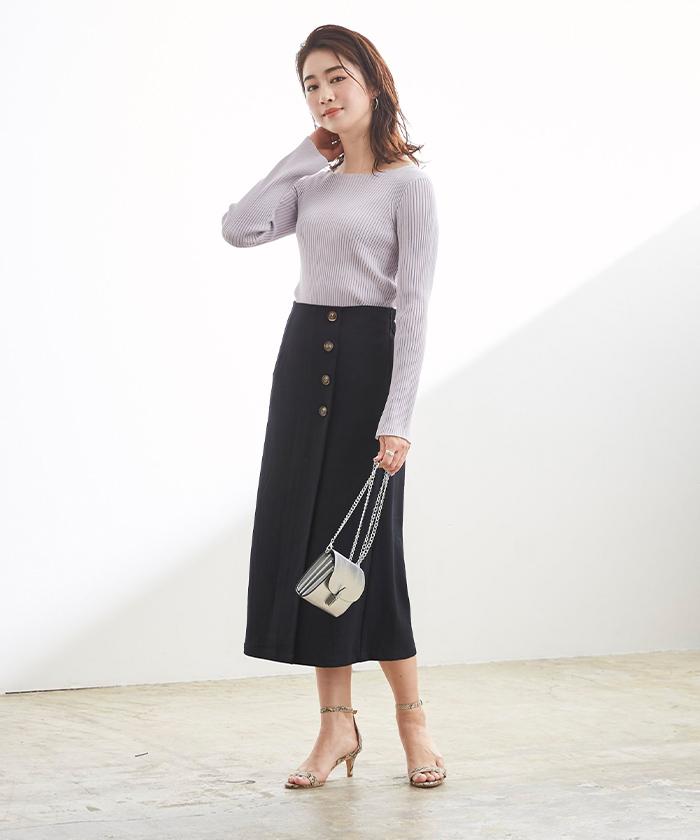 釦デザインラップタイトスカート8