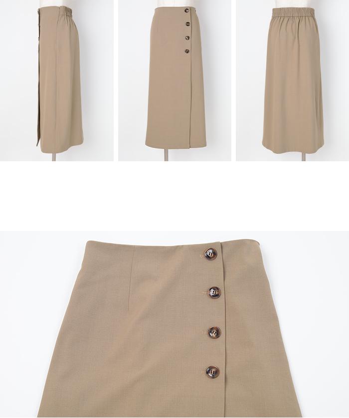 釦デザインラップタイトスカート14