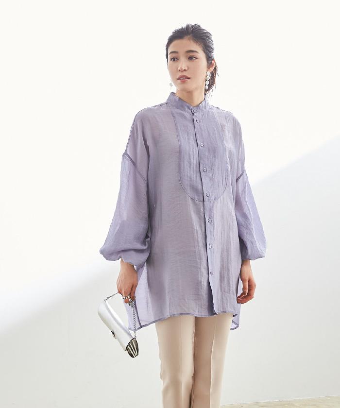 オーバーサイズシアーシャツ10