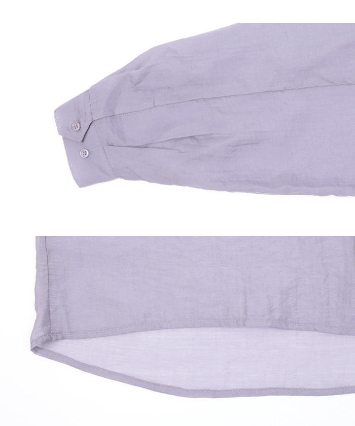 オーバーサイズシアーシャツ15