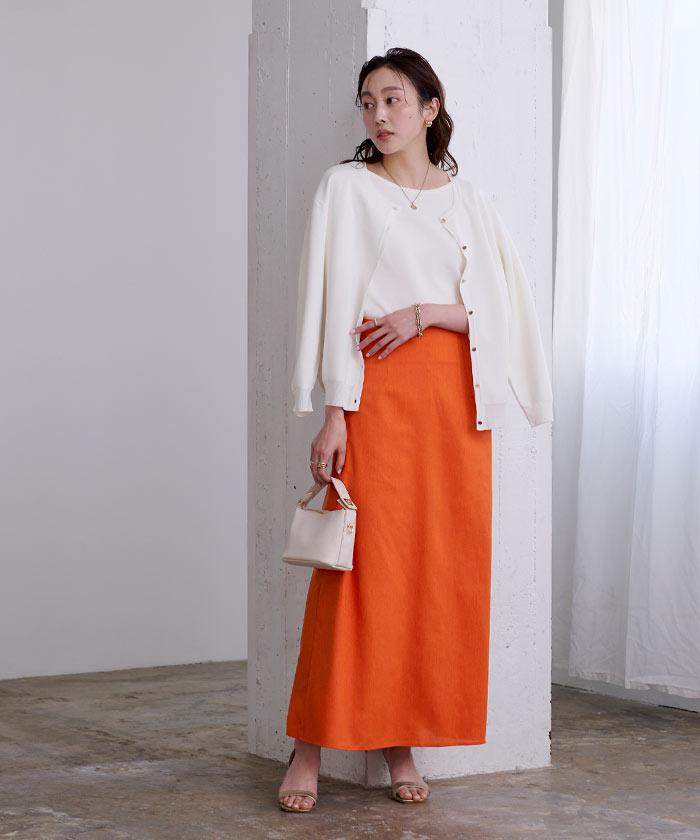 麻混セミフレアスカート2