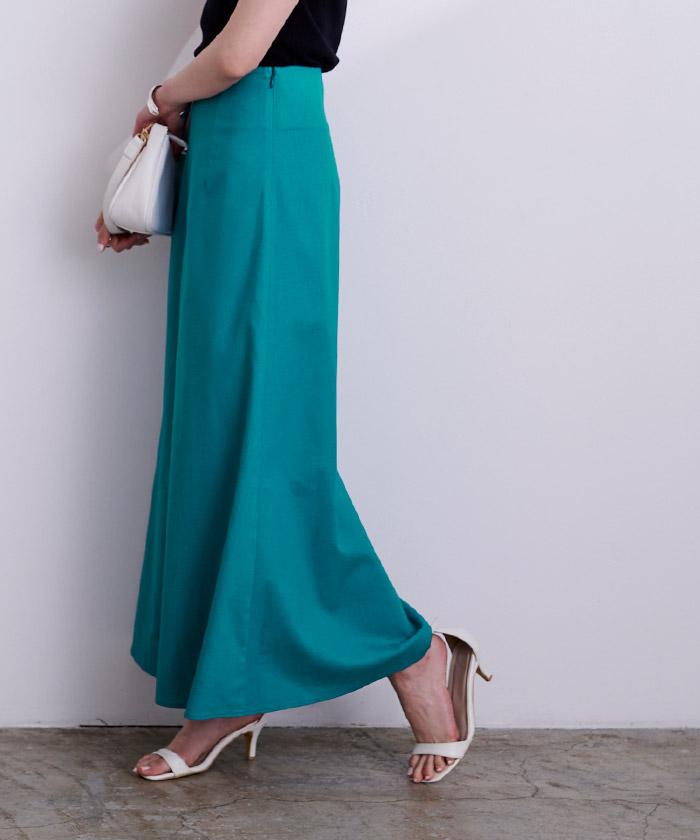 麻混セミフレアスカート6
