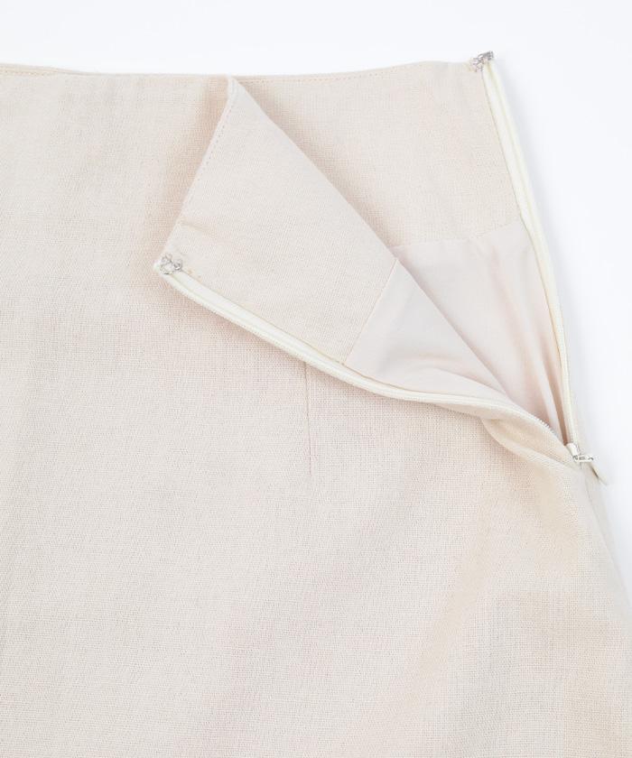 麻混セミフレアスカート14